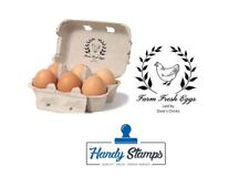 Personalised Custom Made Egg Box Stamp - 48 x 38mm