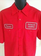 Alphabet Vêtements style américain scolaire Rouge concierge pervers shirt à manches courtes
