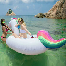 Giant Inflatable Unicorn Pool Float Toy Lilo Lounger PVC Water Pool Swimming Fun