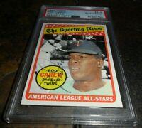 1969 Topps Rod Carew Signed Card #419 All-Star Minnesota Twins PSA/DNA Auto