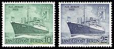 """EBS West Berlin 1955 Launching of the MV """"Berlin"""" Michel 126-127 MNH**"""
