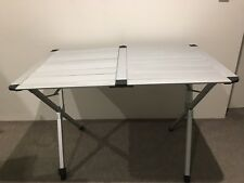 OZtrail Portable Silver Frame Easy Table 4 110x70x70 cm Compact Folding Camping