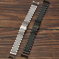 Curved End Stainless Steel Soild Bracelet Clasp Replacement Watch Band Strap