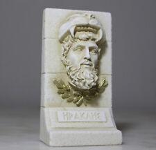 Heracles Statue Ancient Greek Mythology Art Head Bust Sculpture Plaster Handmade