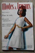 MODES ET TRAVAUX N°816 1968 mode fashion couture tricot pages poupées PATRON