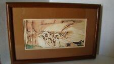 "Navajo Artist Clifford Brycelea Print Of ""Anasazi Ruins"""