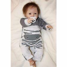 """22"""" Handmade Reborn Baby Doll Newborn Lifelike Dolls Soft Silicone Vinyl Boy"""