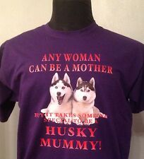 SLED DOG SPIRIT HUSKY MUMMY SIBERIAN HUSKY T SHIRT HUSKIES SIBES PERSONALISED