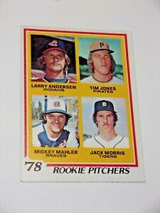 1978 Topps Jack Morris Rookie Card #703 Baseball Card High Grade Tigers Great