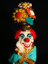 "Ron Lee Clown Sculpture Potsie bouquet of flowers on head ""1991"""