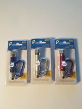 Led Flashlight with Carabiner Key Chains Backpack Pull lot of 3 new in package