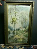 19th Century Original G.E Golby Listed Artist Landscape Watercolor EXCELLENT