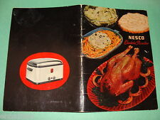 Nesco Electric Roaster Cookbook 1940s National Enameling & Stamping Co