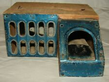 ANTIQUE THE DELUSION MOUSE TRAP W/ LABEL PATENT 1877 LOWELL MFG. CO.