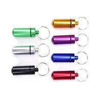 Outdoor-Tool wasserdicht Aluminium Pillendose Fall Drug Holder KeychainCont bc