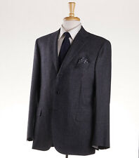 NWT $6400 BRIONI 'Brunico' Charcoal Gray Extra-Soft Wool Suit Slim-Fit 44 R