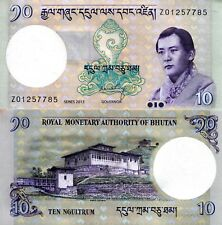 BHUTAN 10 Ngultrum Banknote World Paper Money Pick p29r 2013 Replacement Bill Z