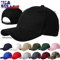 Baseball Cap Plain Snapback Curved Visor Hat Solid Blank Plain Caps Hats Mens