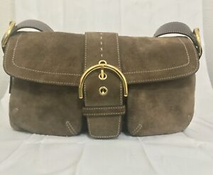 Great feel!👜Coach HOBO Suede Baquette, Mini Bag;  Auth No.C05S-8A18