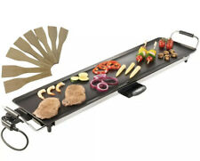 Electric XL Teppanyaki Table Top Grill Griddle Plate BBQ -Kitchen 90x23cm