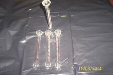 THREE CHEMICAL, LABORATORY GLASS MEASURING CYLINDERS