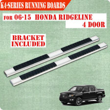 "For 06-15 Honda Ridgeline 4"" Nerf Bar Running Boards Side Step Side Bar Chrome H"