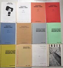 ASSOCIATION GEORGES PEREC lot de bulletins rares 1983-1987