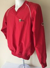 The President's Cup Golf Pullover Windbreaker Jacket Red Small