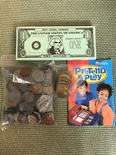 New Learning Resources Pretend Play Money HomeSchool Math Currency Coins Bills