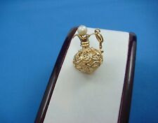ADORABLE 14K YELLOW GOLD ANTIQUE FILIGREE WATER JUG PENDANT CHARM 5.5 GRAMS