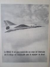 1964-65 PUB AVIONS MARCEL DASSAULT MIRAGE IV FAS AN52 ARMEE DE L'AIR ORIGINAL AD