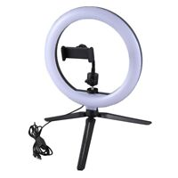 LED Light 10Inch Dimmable Selfie Lamp with Tripod Photography Camera Phone M4L9