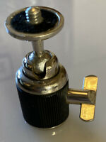 """Nice Vintage Excelsior Tripod Ball & Clamp Head, 3/8"""" Bottom to 1/4"""" Top Screws"""
