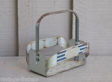 Old Vintage Metal Pepsi Cola Soda Pop Bottle Crate / Carrier Tool w Handle