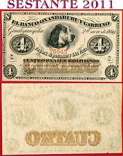 (com) ARGENTINA OXANDABURU GARBINO 1869 4 Reales  Number sequential  P S1781 UNC