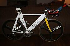GT Saturn Team Collectors TT Race Bike Tri Spoke Specialized Carbon Wheels. 56cm