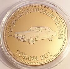 "NEW 2016 ""TORANA XU1"" M/Car Series 2 1 0z HGE 999 24k Gold Coin LTD 2,500"