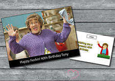 Mrs Browns Boys Personalised Birthday Card / Fathers day / get well A5 Large