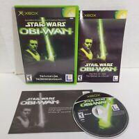 Star Wars Obi Wan 1 ORIGINAL (Microsoft Xbox) Complete CIB 2001 Lucasarts