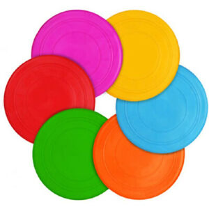 Dog Frisbee Toy Durable Silicone Rubber Outdoor Training Interactive Flying Disc