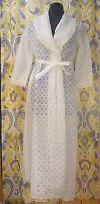 Vintage Miss Elaine Bridal White Sexy Lace Night Robe Lingerie (Petite)