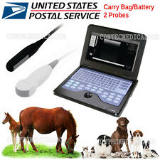 Digital VET Veterinary Laptop Ultrasound Scanner Machine with 2 probe for Animal