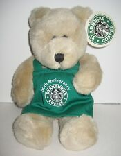 Starbucks Bearista Plush Bear 30th Anniversary NWT New With Tags & Green Apron
