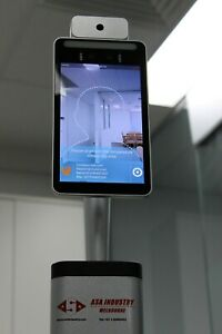 8 inchTemperature Monitoring AI Face recognition, table top stand,  long Stand