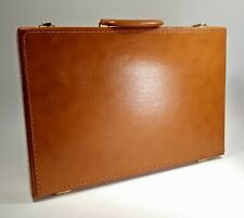 Locking Briefcase Faux Leather Tan