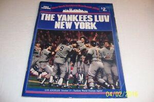 1979 NEW YORK YANKEES Yearbook WORLD CHAMPIONS Nettles MUNSON Reggie Ron Guidry