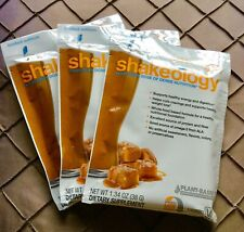 SALTED CARAMEL SHAKEOLOGY VEGAN [3 PACKETS] Ltd Edition NEW! SEALED! Exp 4/2021