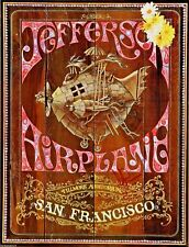 Jefferson Airplane Fillmore Original 1967 Poster 1st Print Style A Signed Jorma