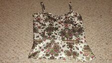 LADIES MULTI-COLOR FLORAL PRINT SATIN TOP BY NICOLE MILLER SIZE 4