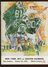 October 26 1969 AFL Program Boston Patriots at New York Jets EXMT